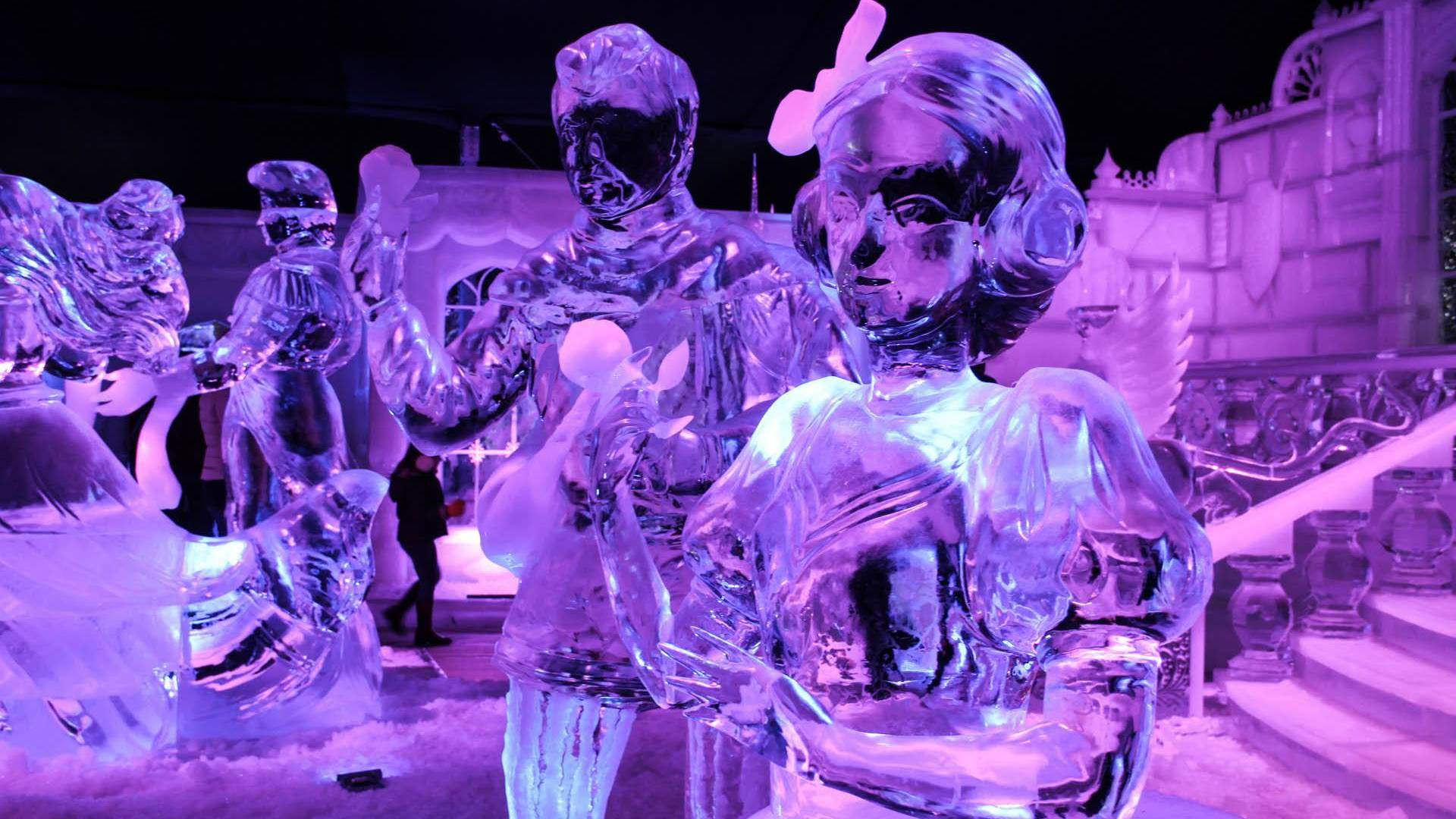 Disney's frozen ice sculptures Traven Luc