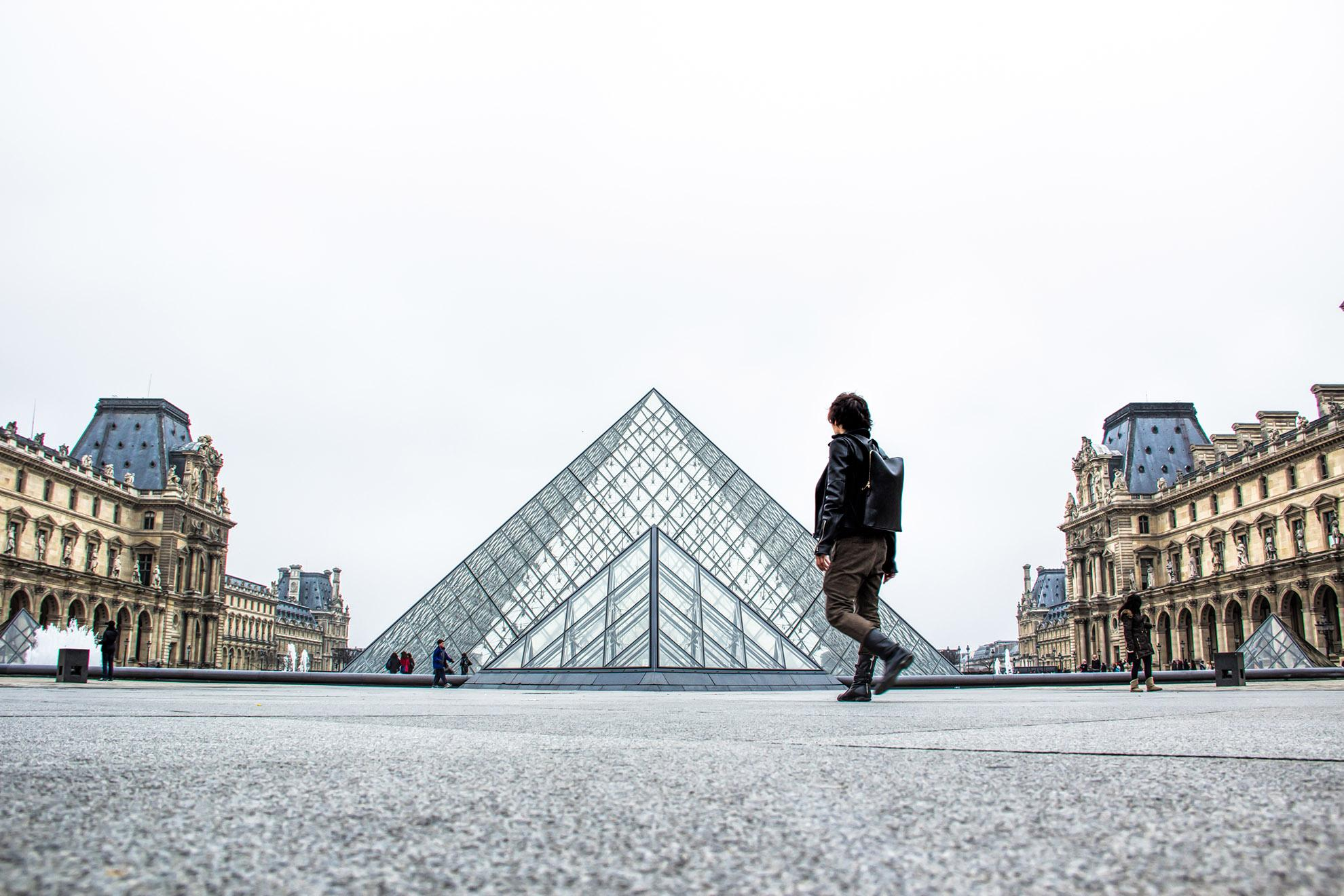 Louvre Museum Outside - Traven Luc