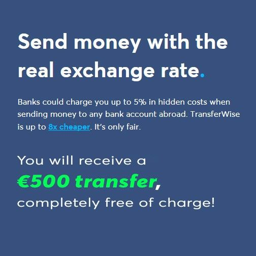 Get €500 Free Transfer